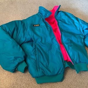 Columbia vintage retro reversible jacket